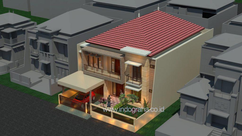 Desain rumah tingkat minimalis modern di duren sawit jakarta