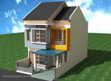 Desain rumah tingkat minimalis terbaru di tapos kota depok