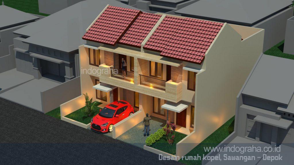 Jasa arsitek cinere model rumah minimalis terbaru tingkat 2 di limo