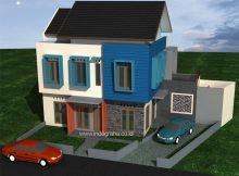 Jasa gambar desain rumah minimalis terbaru di permata legenda dukuh zamrud