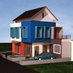 Model rumah minimalis terbaru di kavling pojok perumahan permata legenda mustika jaya
