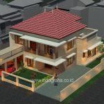 Renovasi model rumah minimalis modern 2 lantai di cilodong depok