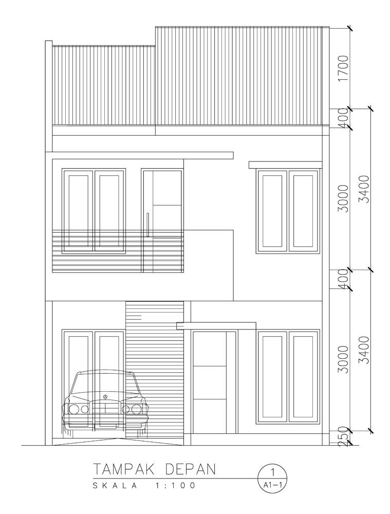 Desain Rumah Kopel 2 Lantai Model Minimalis Di Sawangan Kota Depok