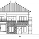 Tampak depan rumah tingkat minimalis terbaru di depok