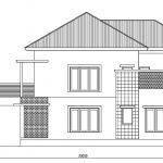Tampak samping kanan rumah minimalis modern di depok