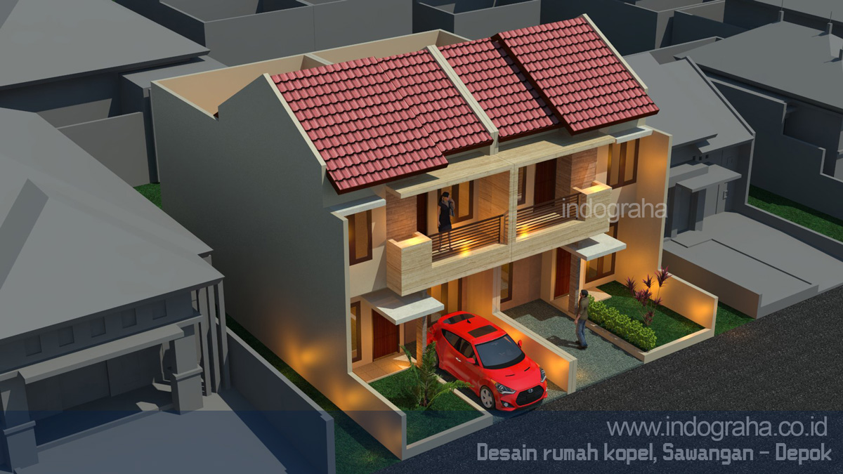 desain rumah tingkat cinere model rumah minimalis terbaru di depok