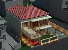 Gambar desain rumah tingkat minimalis modern terbaru di kota depok