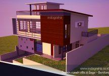 Desain resort villa minimalis terbaru di bukit dago, bandung utara