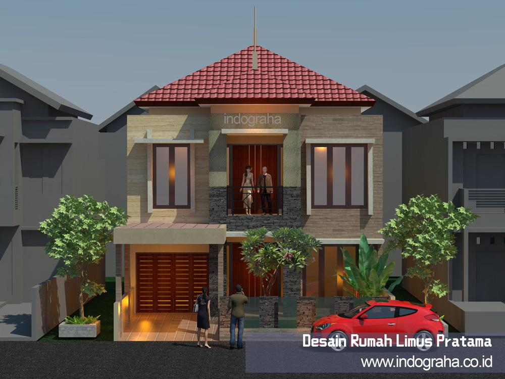 Gambar rumah minimalis tingkat 2 di limus pratama cibubur
