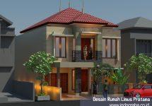 Model rumah minimalis 2 lantai di perumahan Limus Pratama Regency Narogong