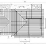 Denah Atap Rumah minimalis kavling sudut di depok maharaja