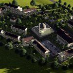 Gambar desain komplek masjid dan pondok pesantren modern di ciawi bogor