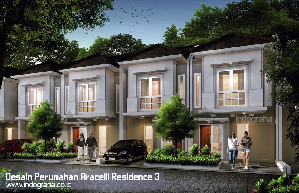 Model rumah minimalis perumahan- aracelli residence 3 di kranggan bekasi