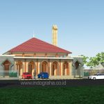 Desain masjid minimalis modern 1 lantai di cibubur
