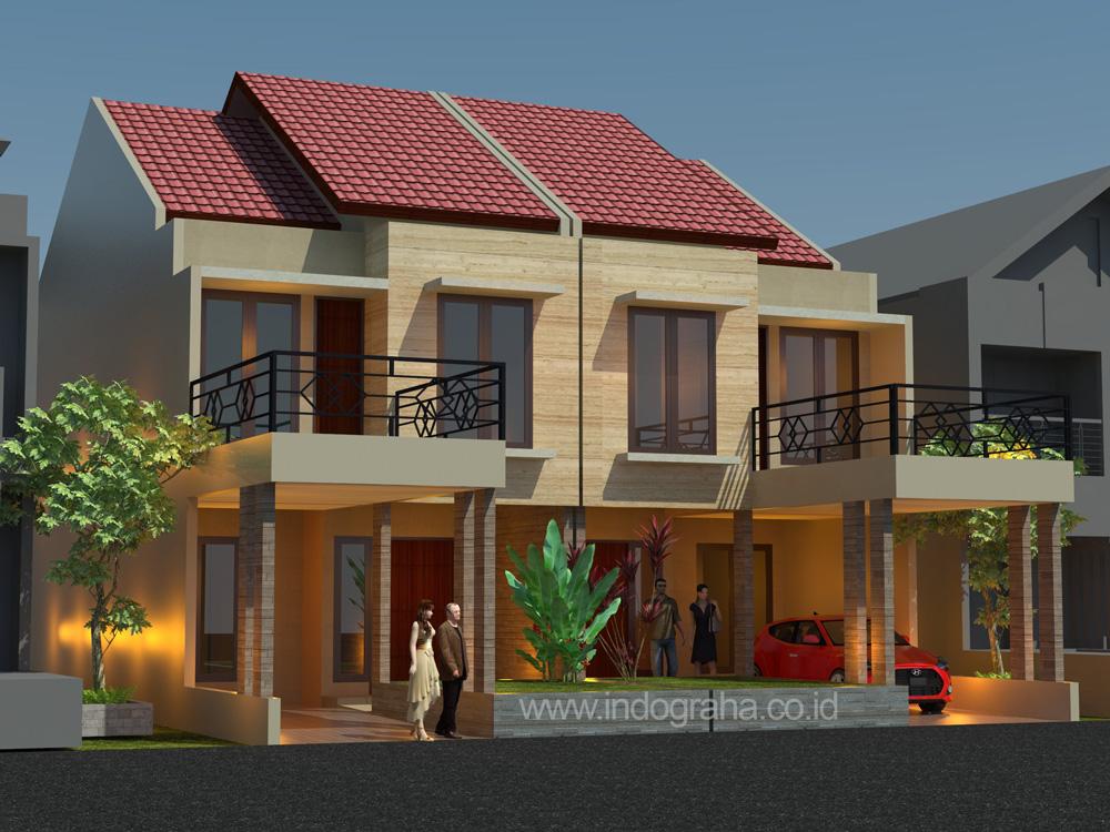 Desain renovasi rumah tingkat minimalis di perumahan permata depok