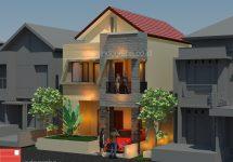 Desain rumah minimalis tingkat 2 di arundina cibubur jakarta timur