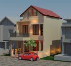 Desain rumah minimalis tingkat 2 di taman kenari nusantara cikeas cibubur