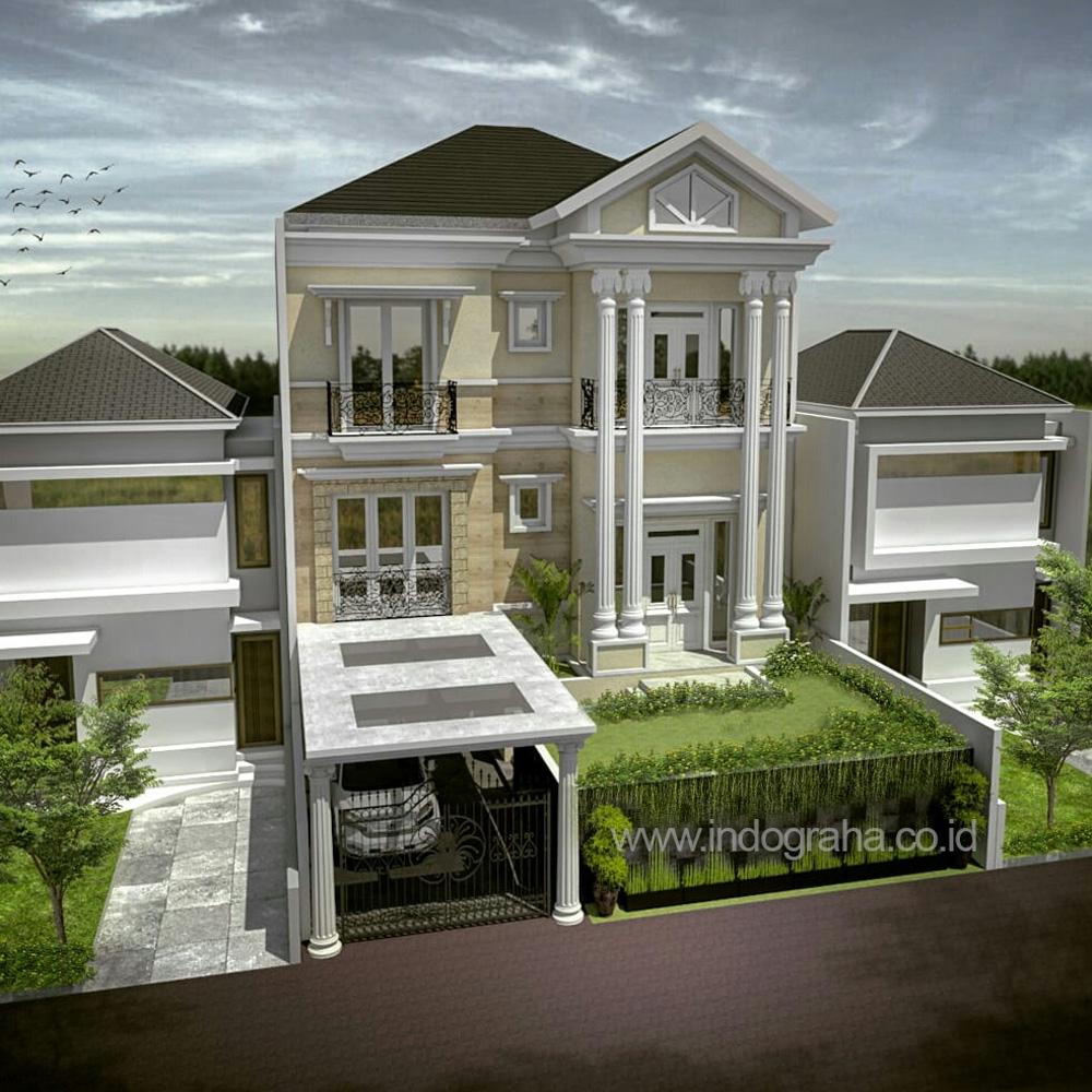 Desain Rumah Model Klasik Di Cluster Perumahan Araya Hill Kota Malang Indograha Arsitama