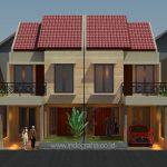 Gambar desain arsitek rumah tingkat 2 lantai di permata depok ratujaya