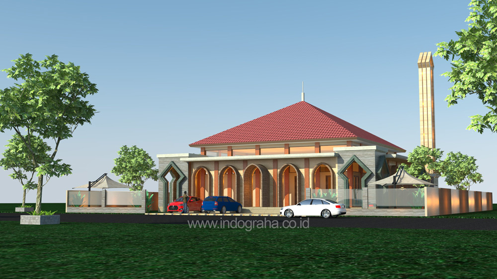 Gambar masjid minimalis ukuran 400 m2 di cimanggis cibubur
