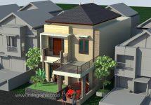 Jasa desain rumah minimalis modern tingkat 2 di perumahan pesona depok