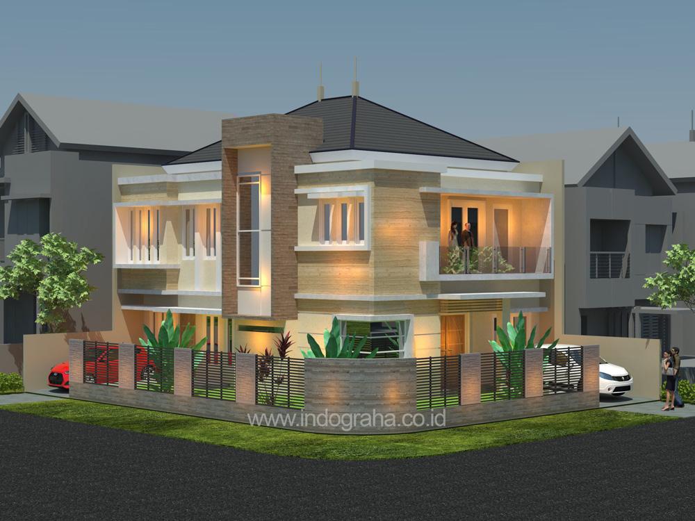 Jasa gambar arsitek rumah minimalis 2 lantai di cimanggis cibubur