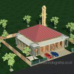 Model masjid minimalis 1 lantai 400 m2 di cikeas cibubur