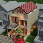 Model rumah minimalis tingkat 2 di taman kenari nusantara cibubur cikeas