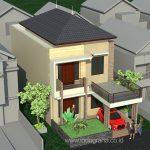 Renovasi rumah minimalis 2 lantai di perumahan pesona depok
