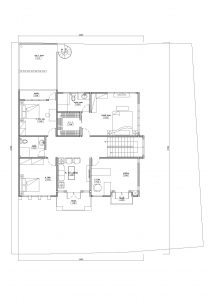 Denah lantai 2 rumah minimalis-di jagakarsa