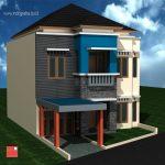 Desain arsitek rumah minimalis tingkat 2 di berkoh kota purwokerto