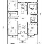 Desain denah lantai 2 rumah minimalis di berkoh purwokerto