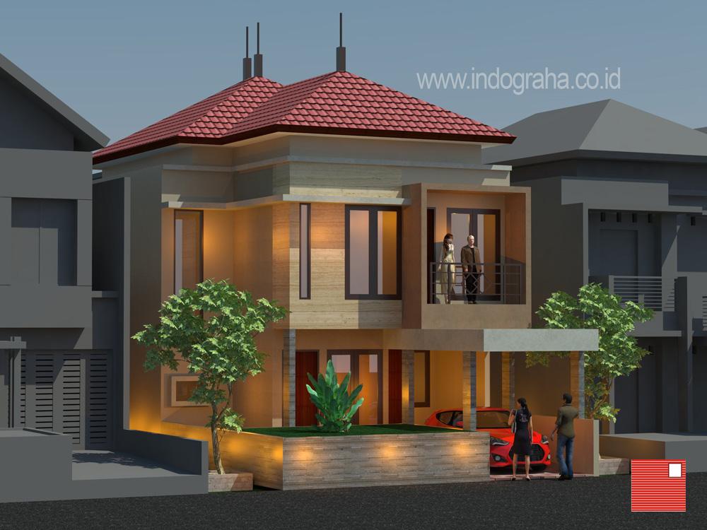 Desain renovasi gambar kerja rumah minimalis modern tingkat 2 di cibubur