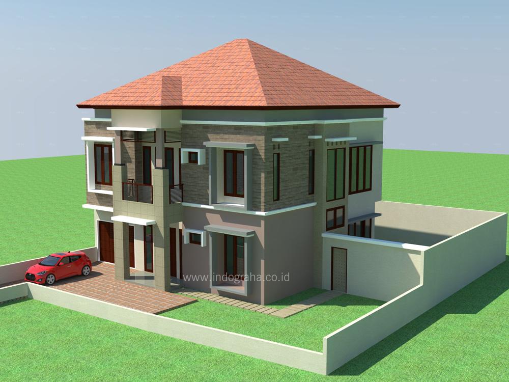 Desain rumah tinggal modern minimalis di jagakarsa jakarta selatan