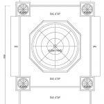 Gambar desain kubah atap grc masjid minimalis tingkat 2 di kota depok