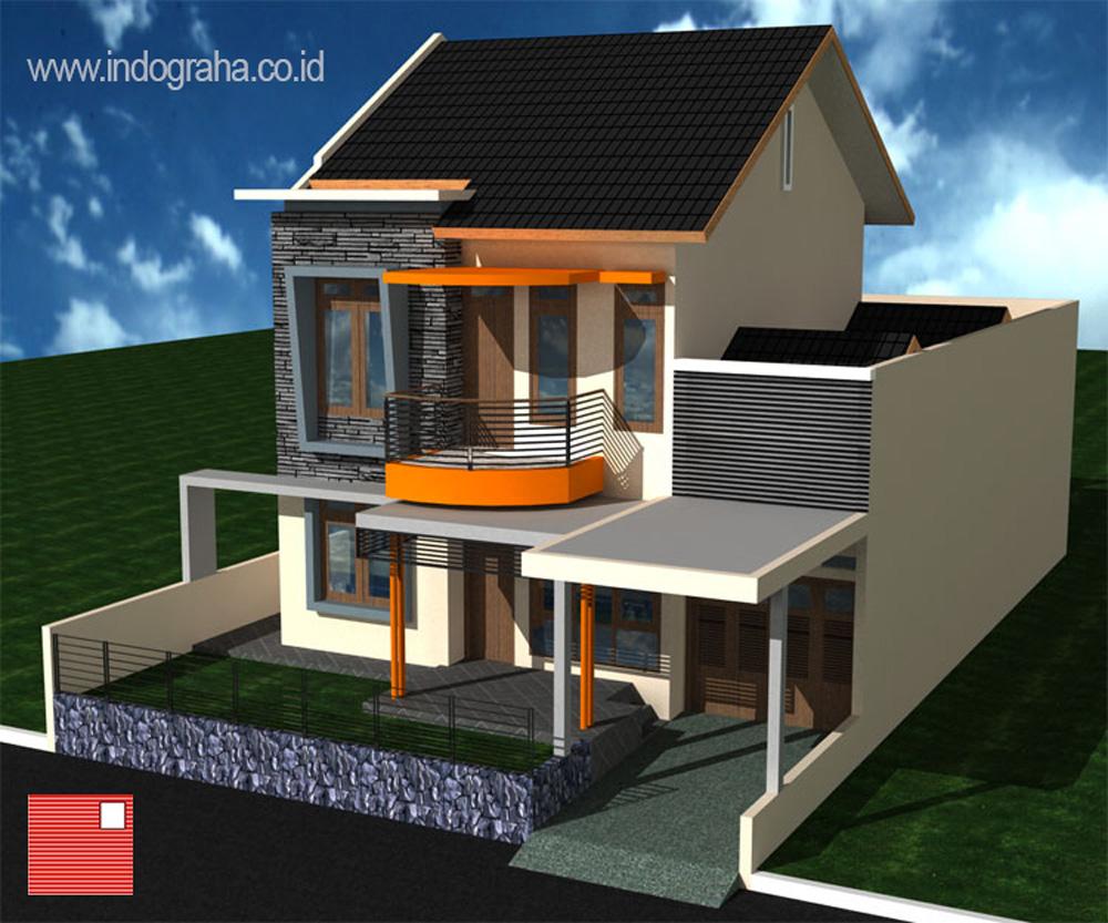 Jasa arsitek kota depok desain rumah tingkat 2 di pesona depok estate