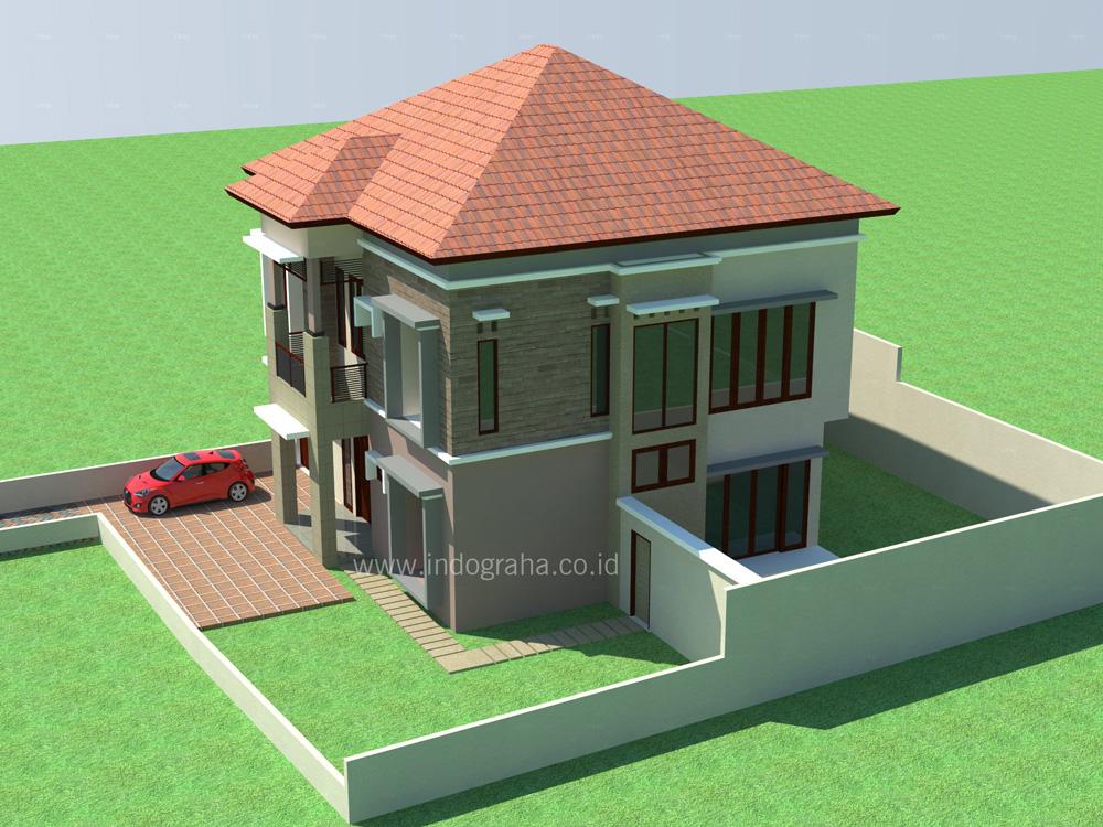 Jasa gambar rumah tinggal minimalis di jagakarsa