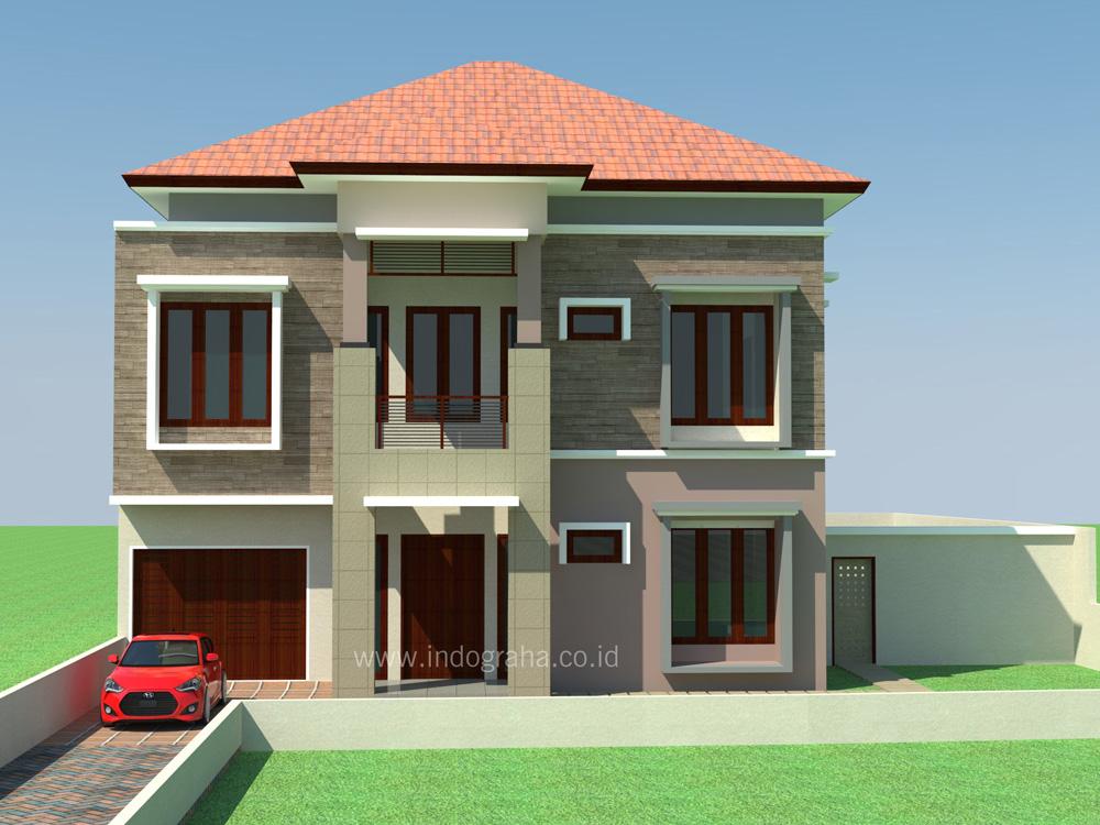 Desain arsitek rumah minimalis tingkat 2 di jagakarsa