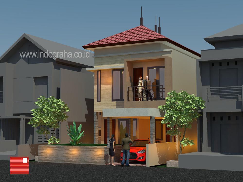Model rumah minimalis tingkat 2 di perumahan legenda wisata cibubur