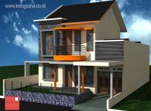 Model rumah minimalis tingkat 2 di perumahan pesona depok estate