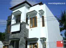 Progress pengecatan pembangunan rumah minimalis tingkat 2 di purwokerto