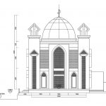 Tampak masjid jami nurul ikhsan dengan kubah grc di citayam depok