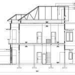 Tampak potongan gambar arsitek rumah minimalis di purwokerto