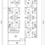 Denah Lantai 2 rumah kos minimalis di beji depok