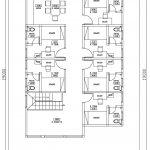 Denah Lantai 3 rumah kos minimalis di margonda depok