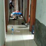 Progress finishing rumah kos minimalis tingkat 3 di ui jl margonda depok