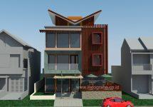 Rumah kos minimalis 3 lantai di pondok cina beji depok