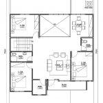 Denah lantai 2 rumah tingkat di cimanggis