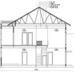 Potongan A-A rumah modern minimalis di depok