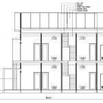 Potongan B-B rumah kos minimalis 3 lantai kota depok